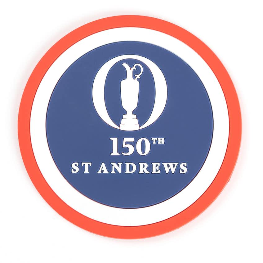 150th St Andrews Coaster Set - Navy, Red and White