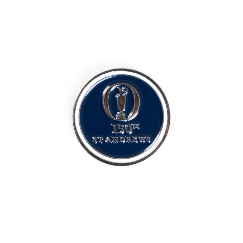 150th St Andrews Two-Sided Ball Marker - Navy And White 0