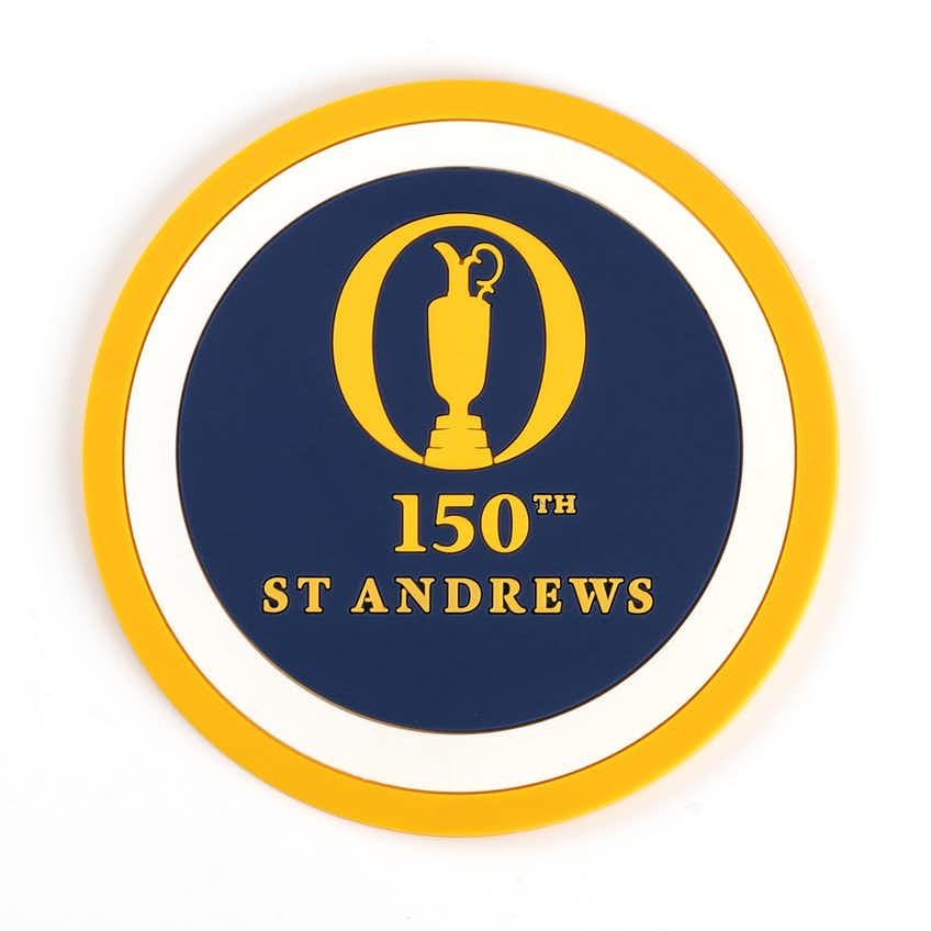 150th St Andrews Coaster Set - Navy, Yellow and White