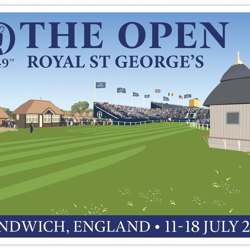 Official 149th Royal St George's Tubed Poster 0