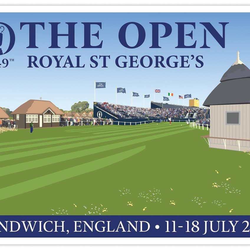 Official 149th Royal St George's Tubed Poster