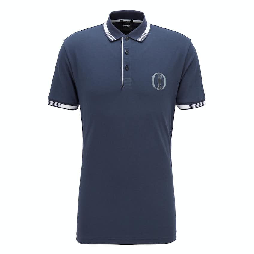 The Open BOSS Plain Polo Shirt - Navy