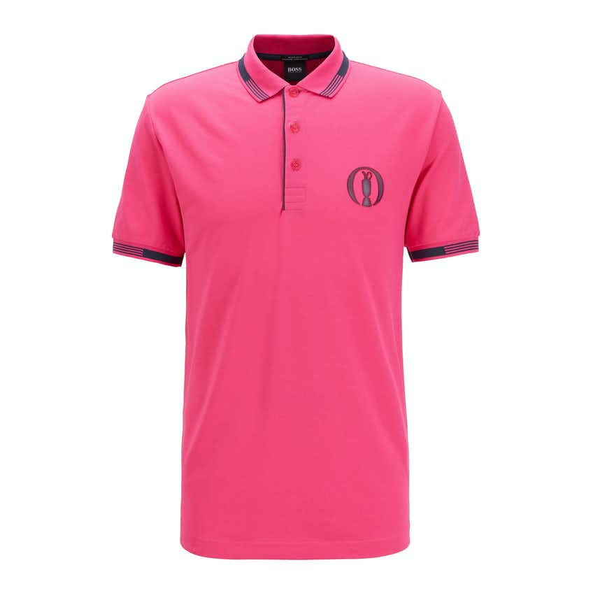 The Open BOSS Plain Polo Shirt - Pink