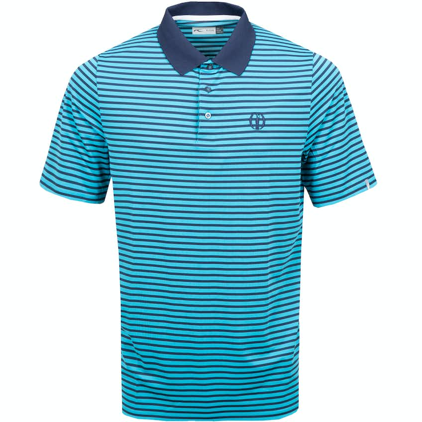 The Open KJUS Striped Polo Shirt - Blue and Navy