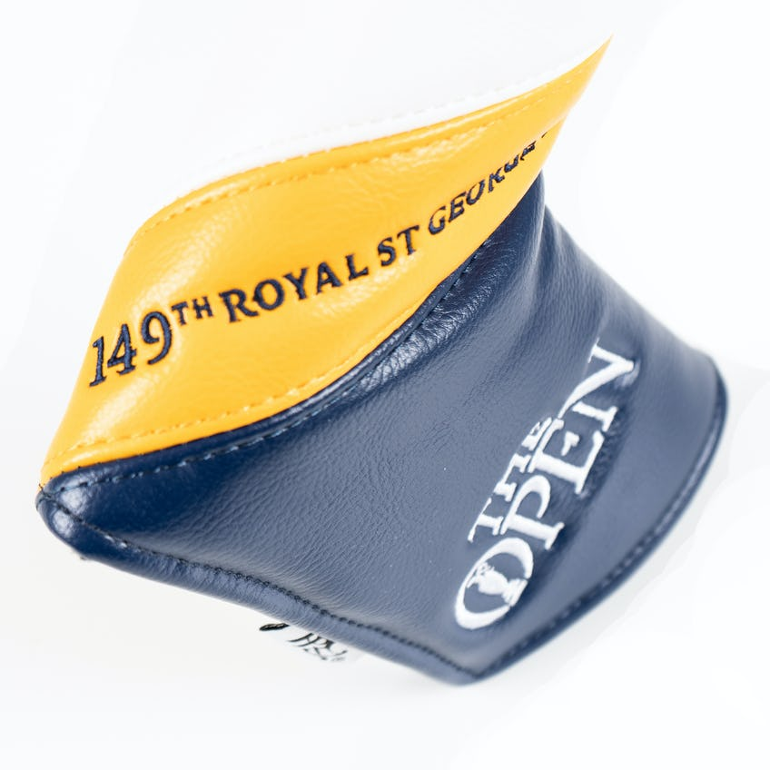 149th Royal St George's Blade Putter Headcover - Navy and Yellow 0