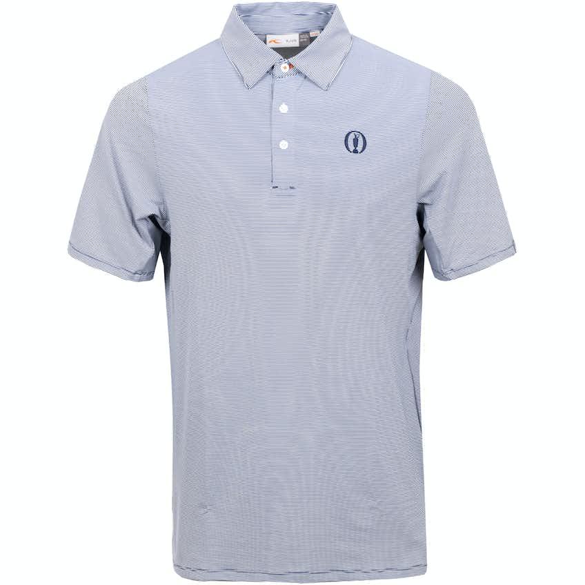 The Open KJUS Striped Polo Shirt - Grey