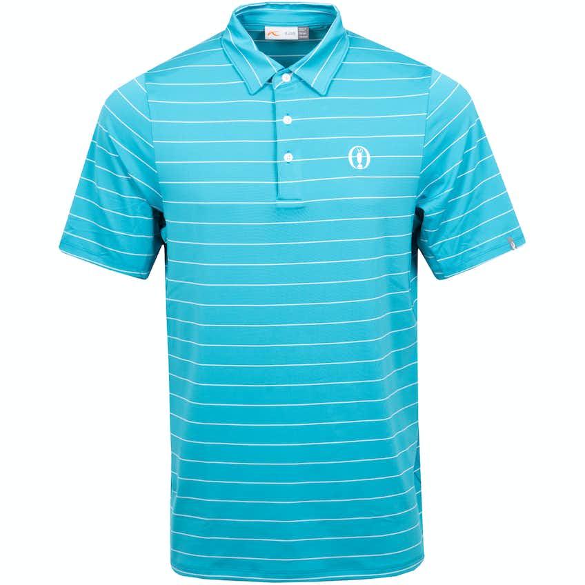 The Open KJUS Striped Polo Shirt - Blue