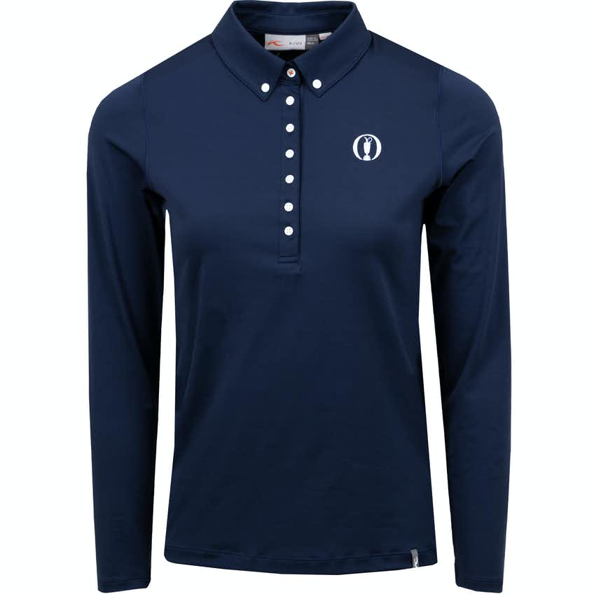 The Open KJUS Long-Sleeved Polo Shirt - Navy