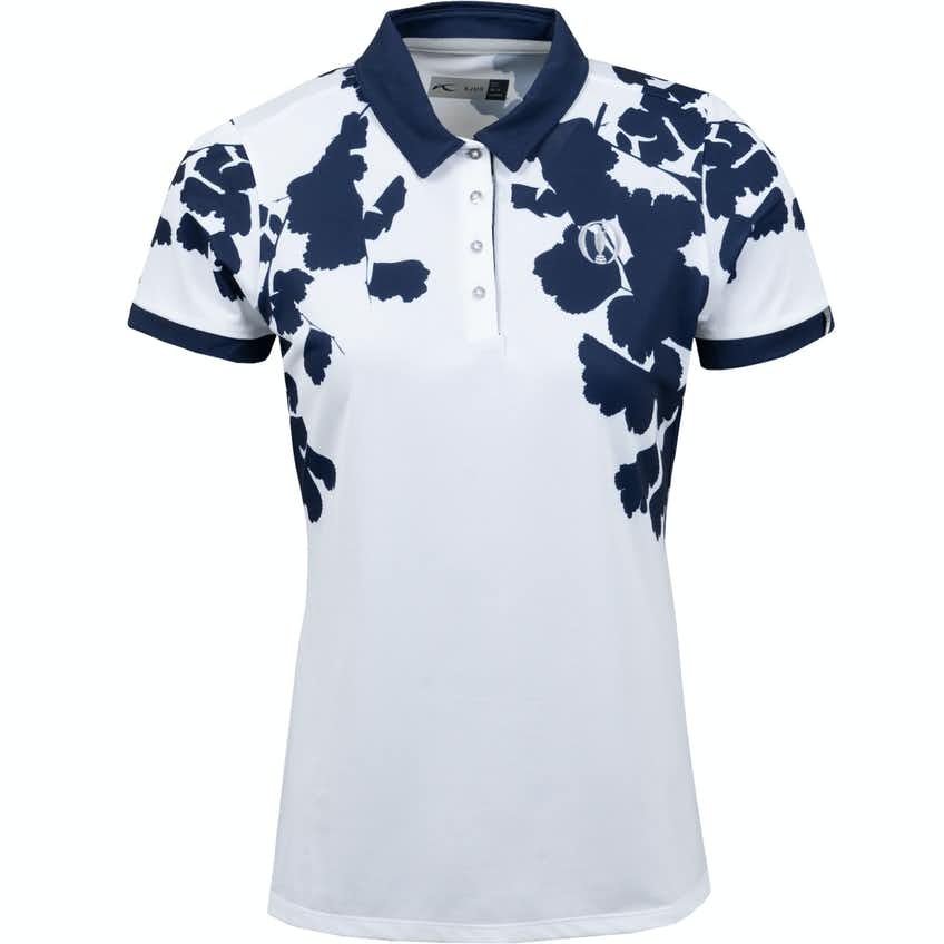 The Open KJUS Patterned Polo Shirt - White and Navy