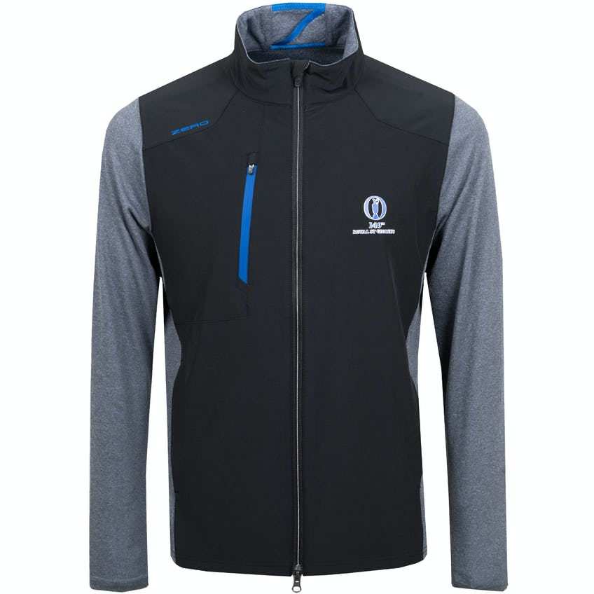 149th Royal St George's Zero Restriction Water-Repellent Jacket - Black and Grey 0