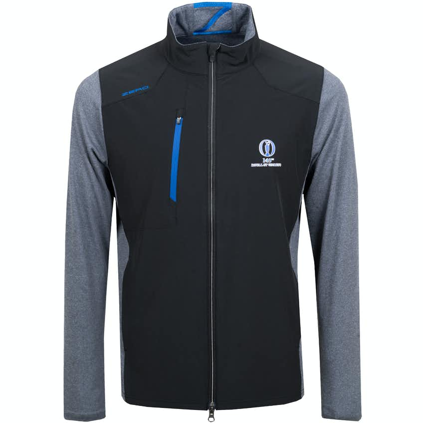 149th Royal St George's Zero Restriction Water-Repellent Jacket - Black and Grey