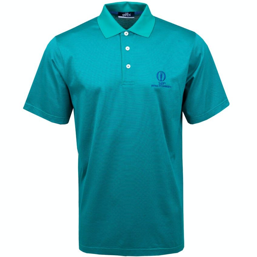 149th Royal St George's Marbas Striped Polo Shirt - Green and Blue 0