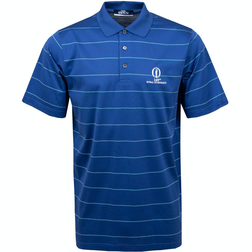 149th Royal St George's Marbas Striped Polo Shirt - Blue