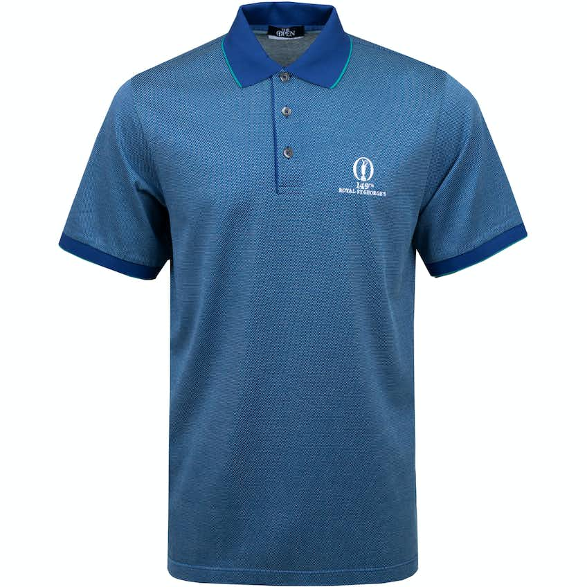 149th Royal St George's Marbas Patterned Polo Shirt - Blue