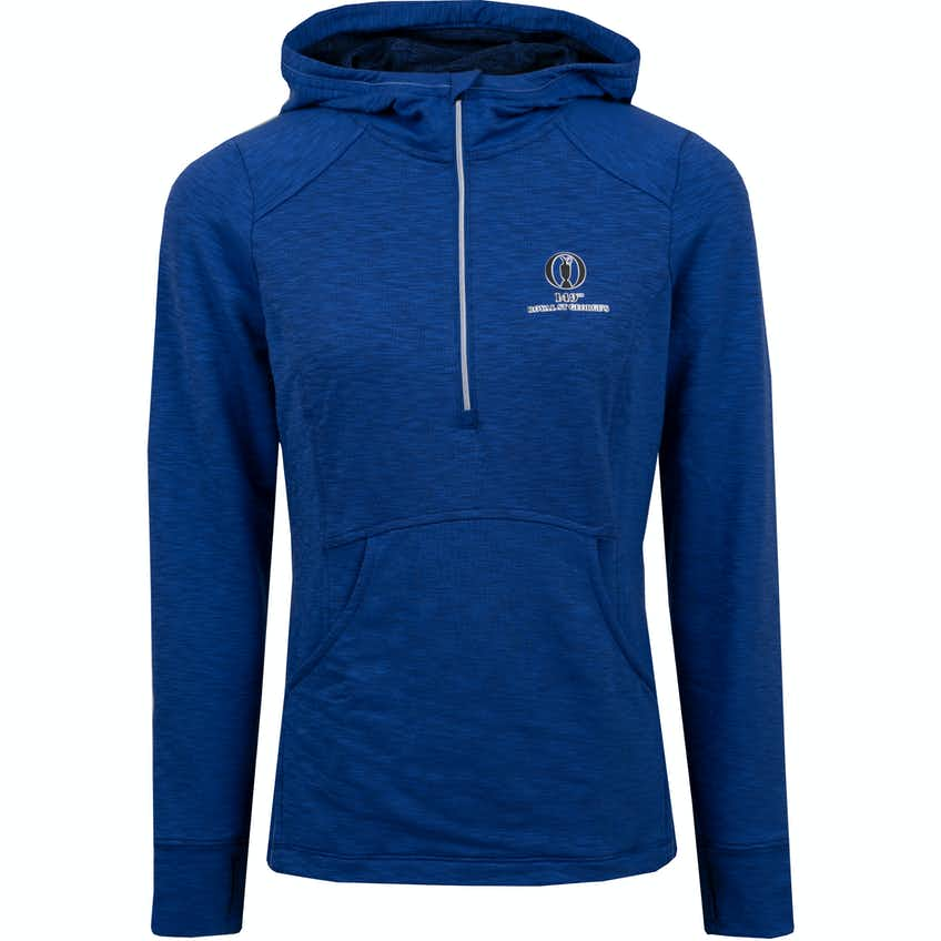 149th Royal St George's Zero Restriction 1/4-Zip Hoodie - Blue