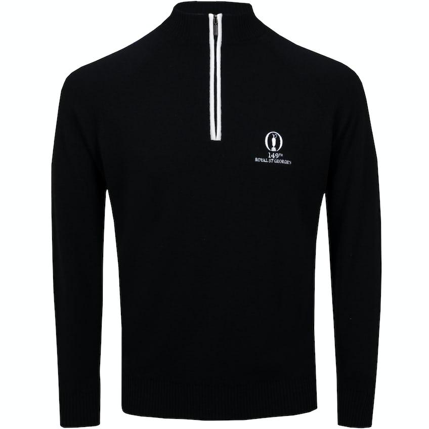 149th Royal St George's Glenbrae 1/4-Zip Sweater - Black 0