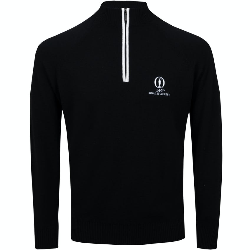 149th Royal St George's Glenbrae 1/4-Zip Sweater - Black