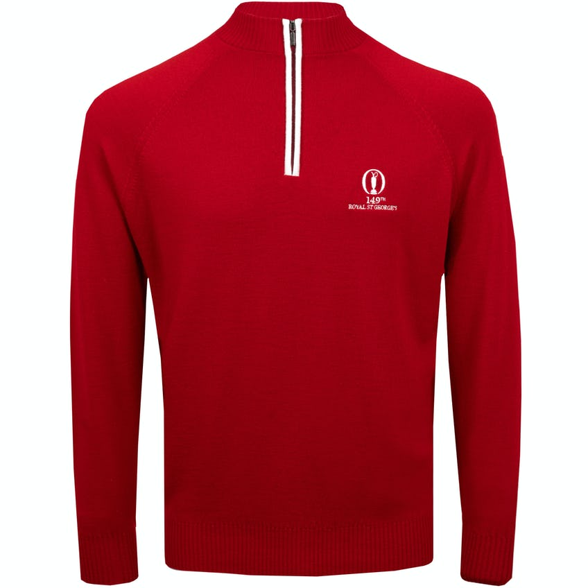 149th Royal St George's Glenbrae 1/4-Zip Sweater - Red 0