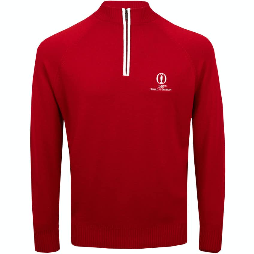 149th Royal St George's Glenbrae 1/4-Zip Sweater - Red