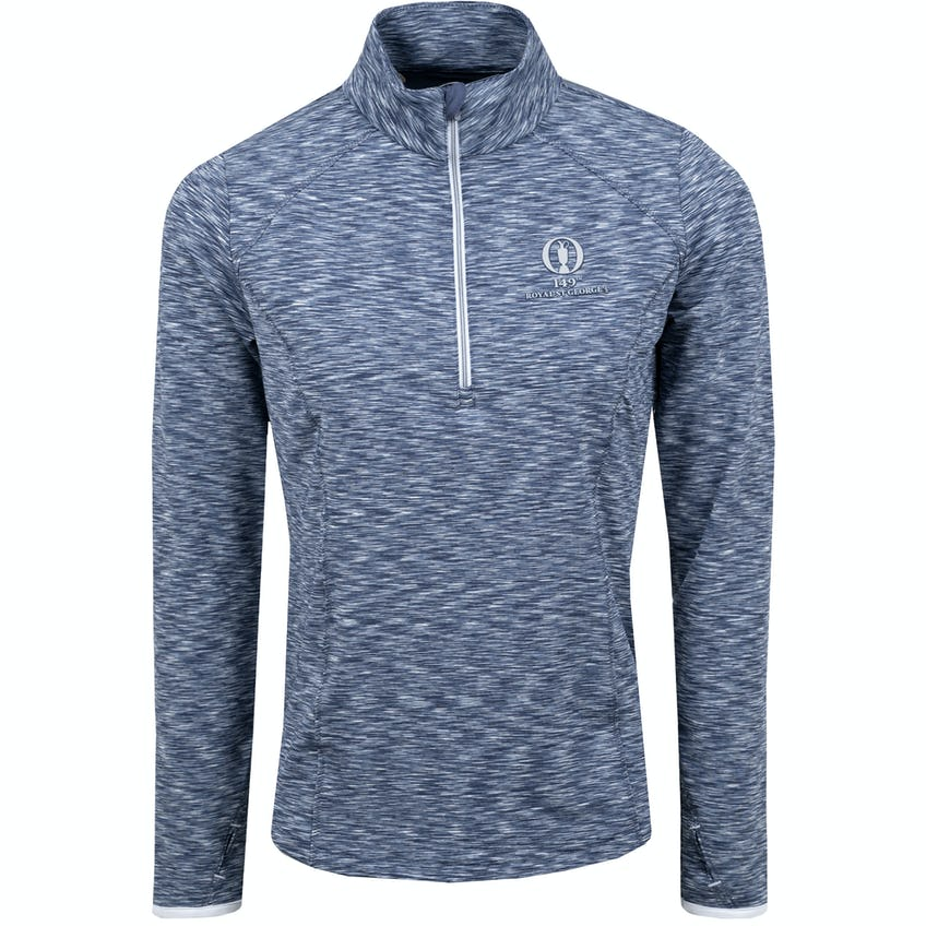 149th Royal St George's Zero Restriction 1/4-Zip Patterned Sweater - Navy and White 0