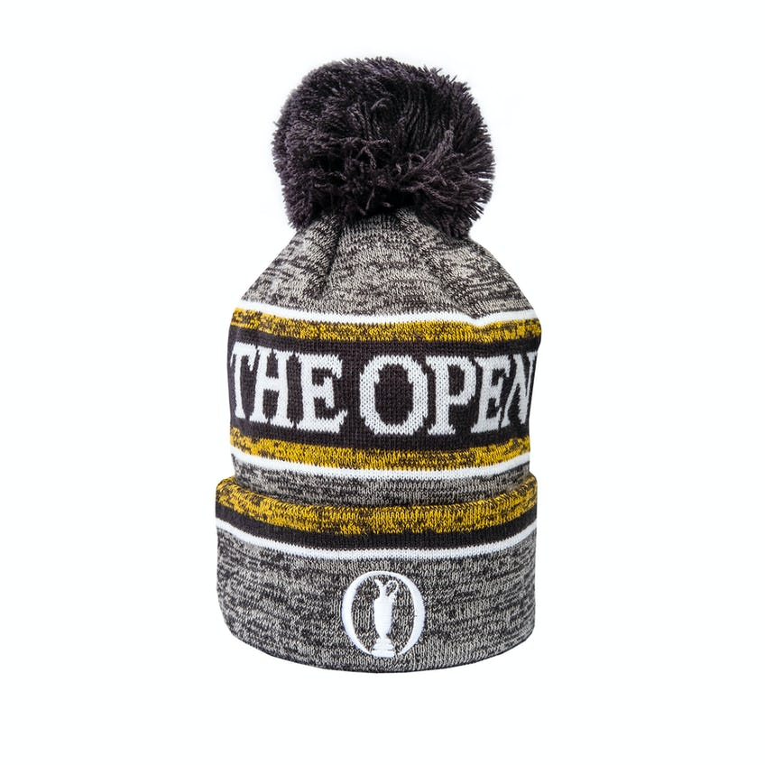 The Open New Era Striped Bobble Beanie Hat - Navy