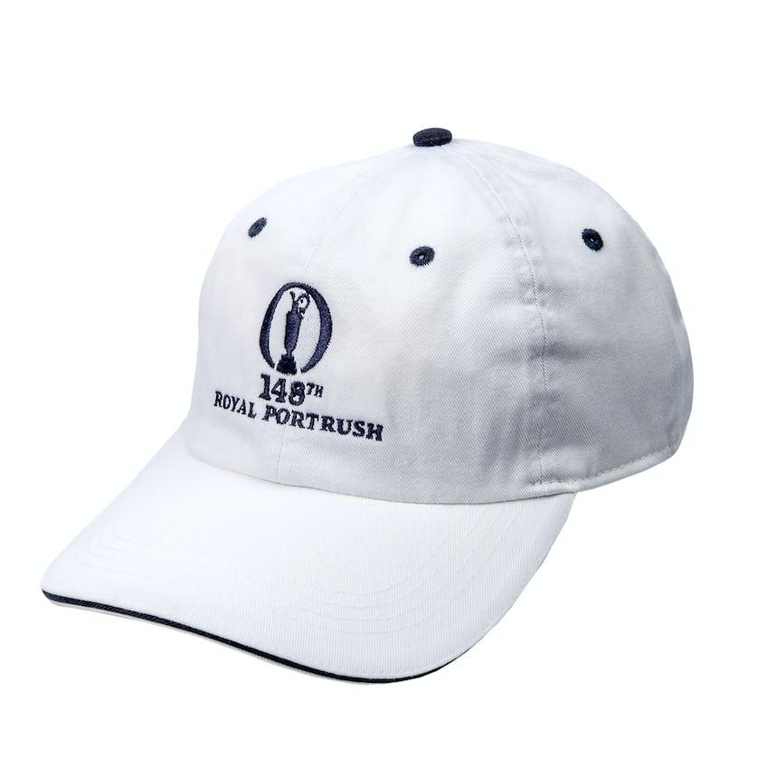 148th Royal Portrush Baseball Cap - White