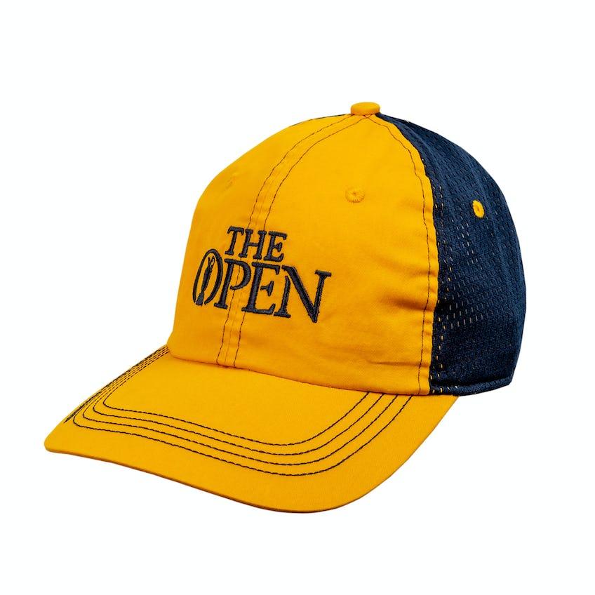 148th Royal Portrush Baseball Cap - Yellow and Navy