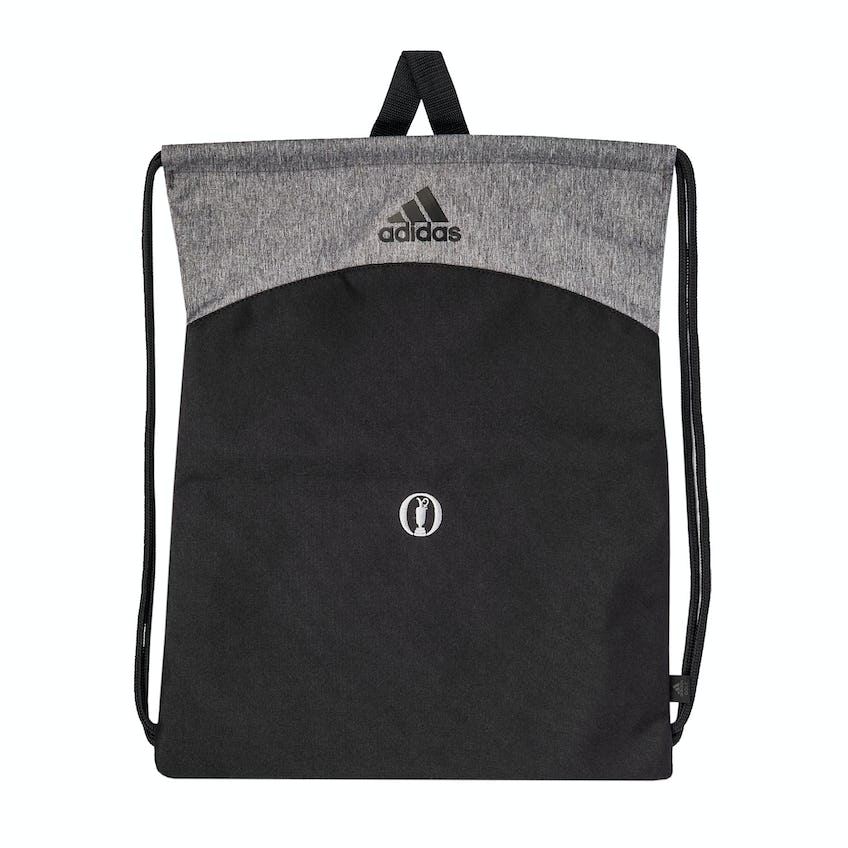 The Open adidas Drawstring Bag - Black and Grey