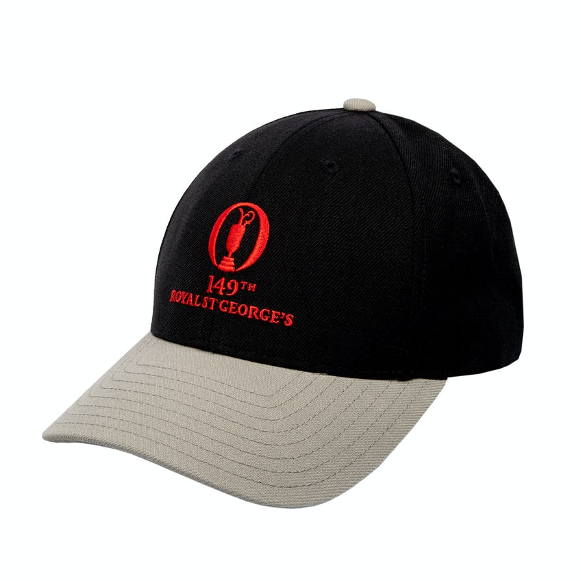 149th Royal St George's Baseball Cap - Black, Grey and Red 0